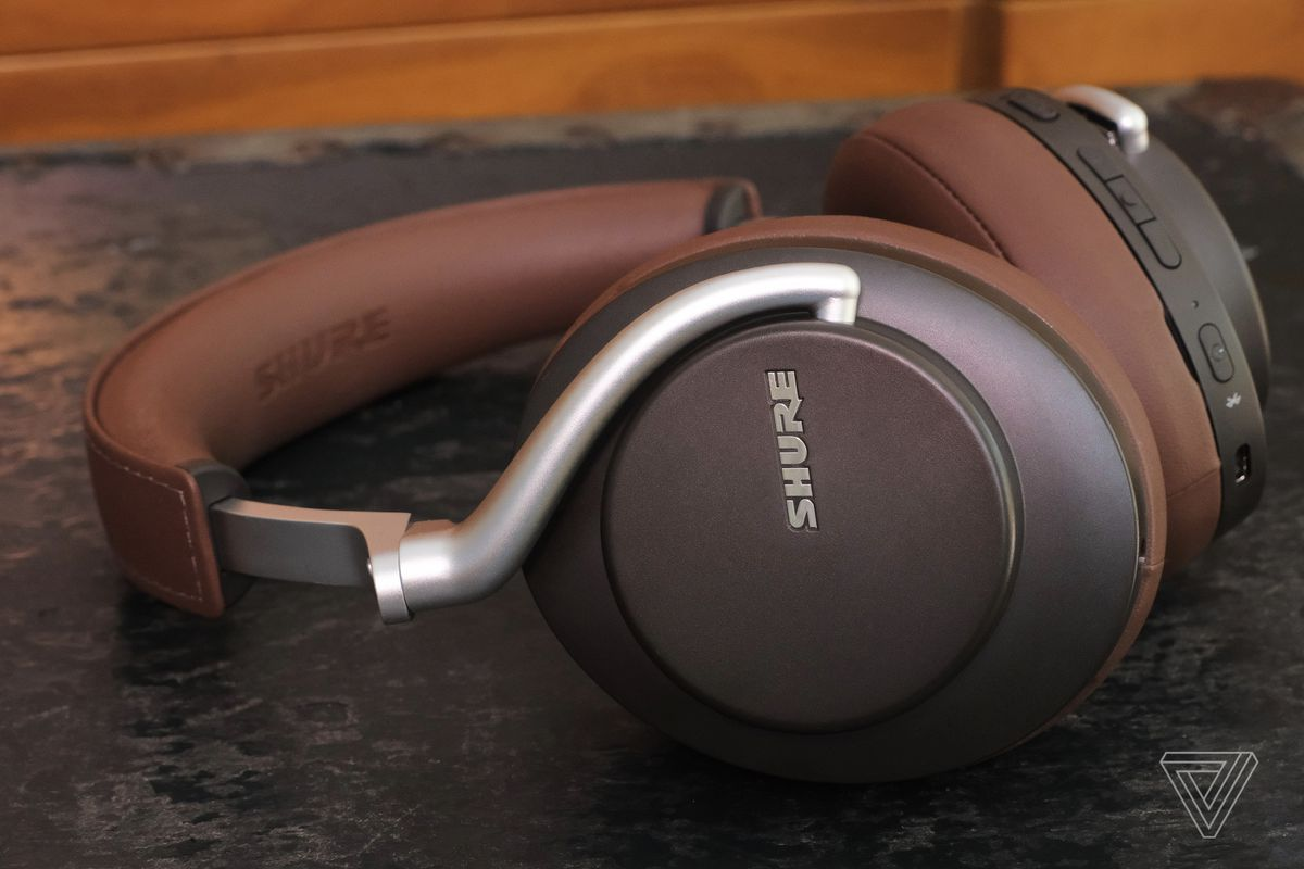 A photo of Shure's Aonic 50 headphones, the best noise-canceling headphones for sound quality.