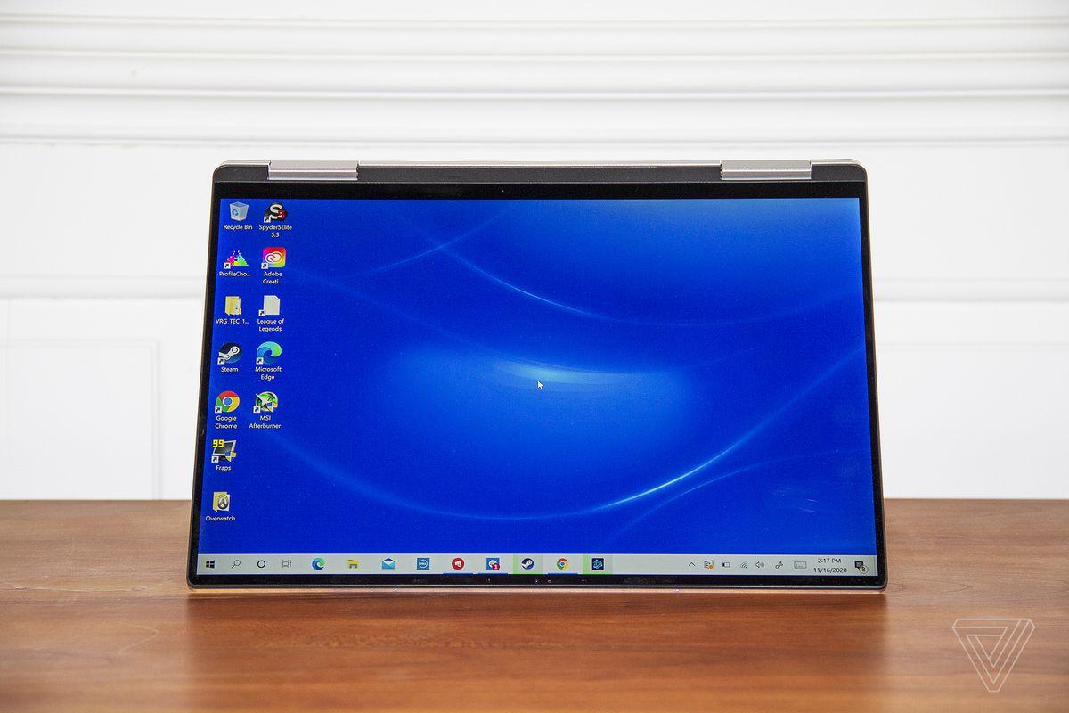 Dell XPS 13 2-în-1 în modul cort.