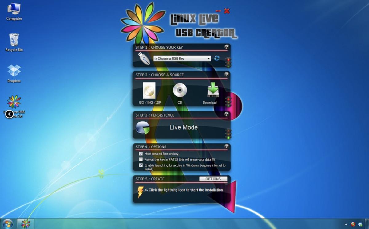 Veți avea nevoie de un program ISO burner, cum ar fi Linux Live USB Creator