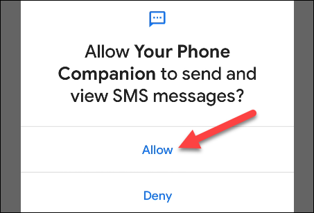 permite permisiuni SMS