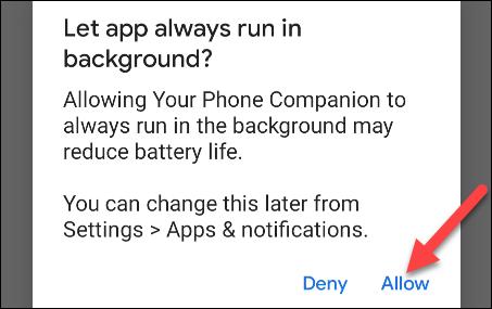permiteți telefonului dvs. să ruleze în fundal