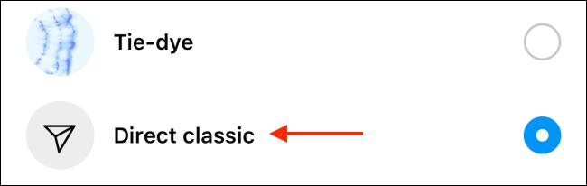 Selectați Tema clasică directă pentru a reveni