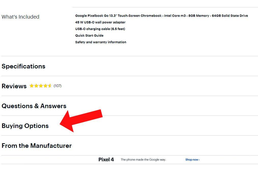 Lista de pagini Best Buy pentru Google Pixelbook Go