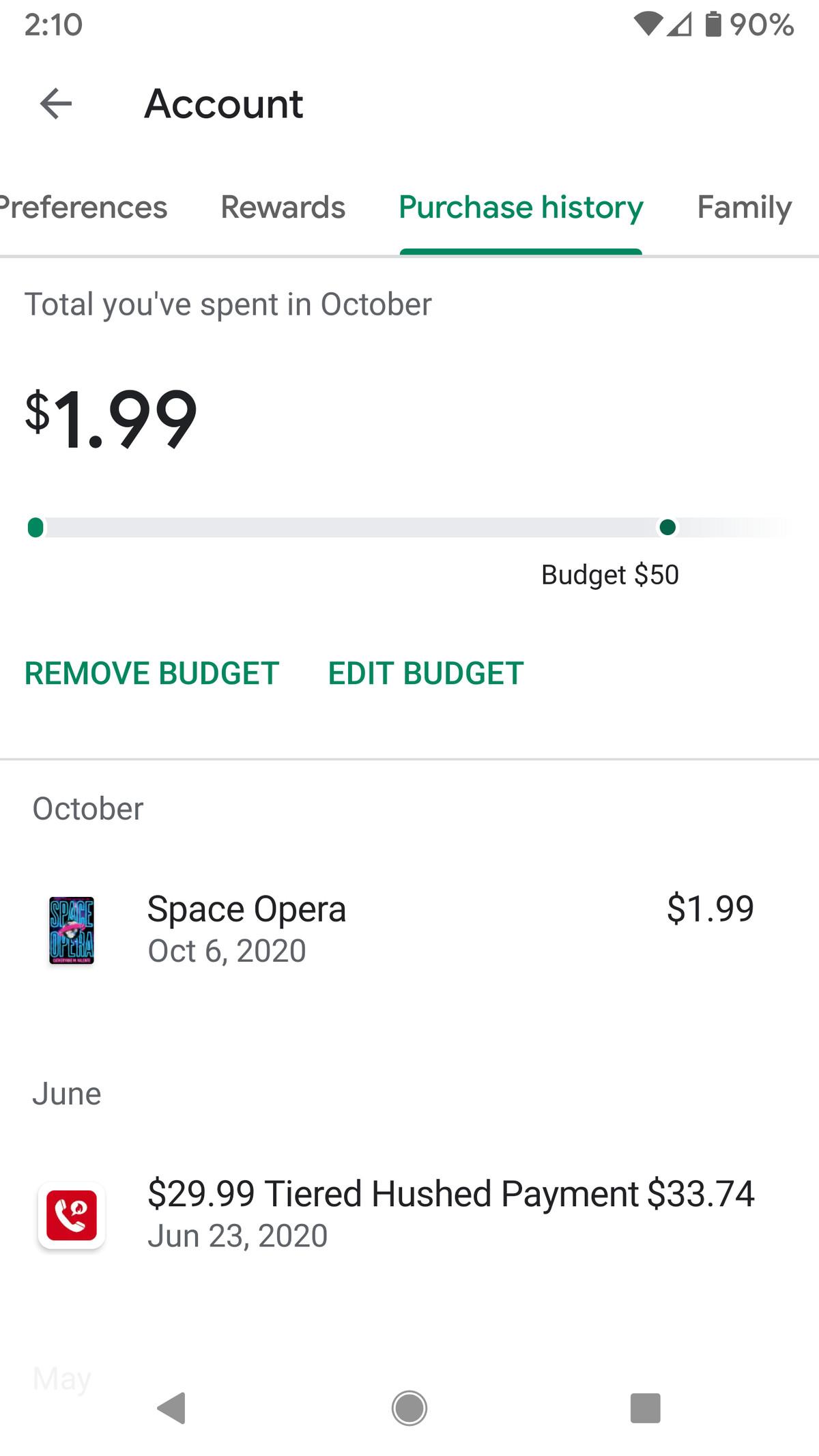 Puteți elimina sau edita oricând bugetul.