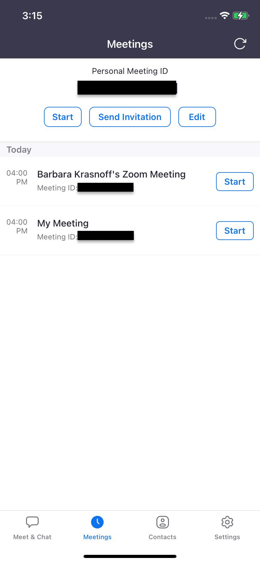"""La fel ca în cazul versiunii web, """"Întâlniri"""" vă permite să trimiteți o invitație"""
