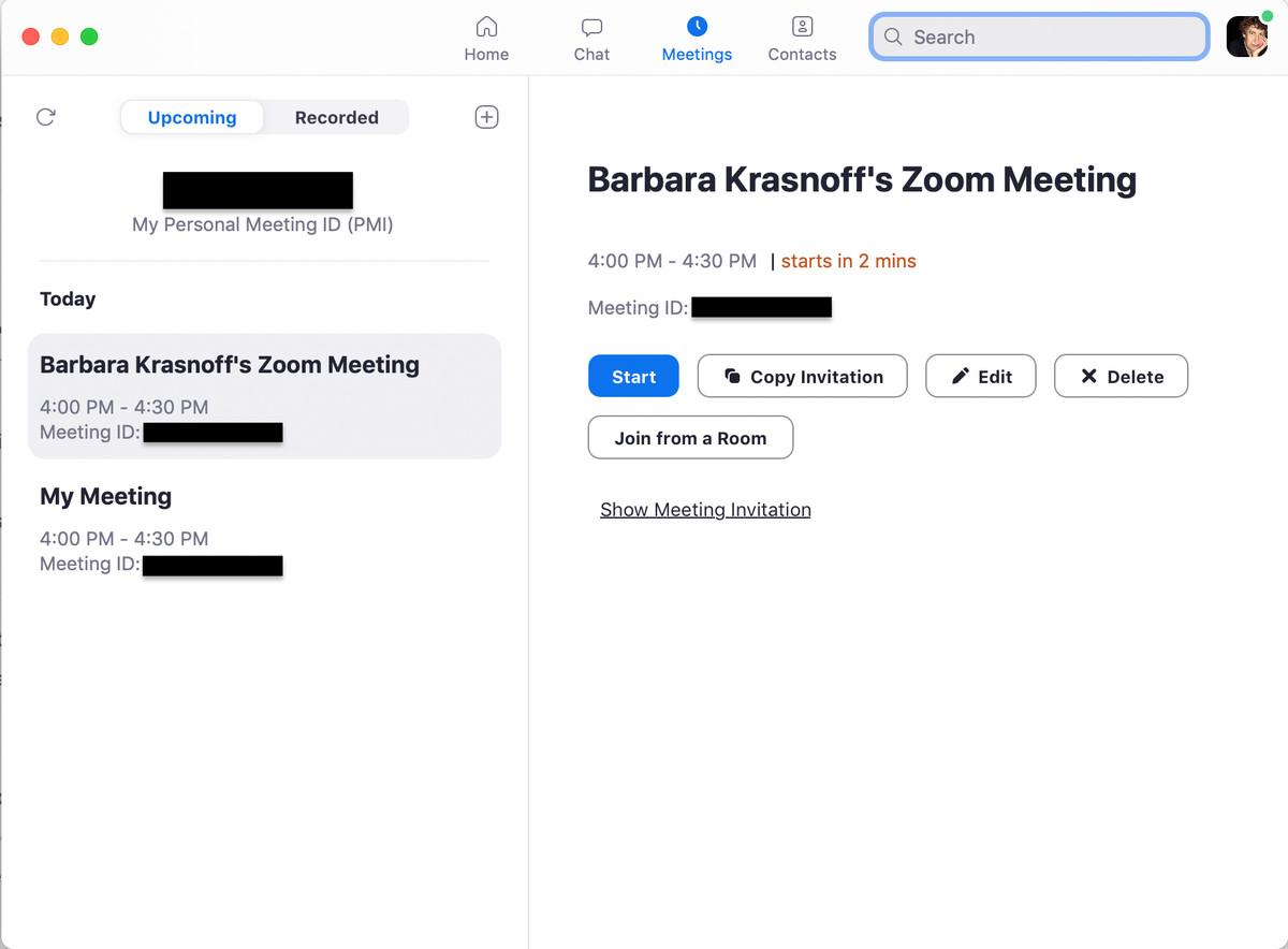 Ca și în cazul versiunii web, aveți multe opțiuni pentru programarea unei întâlniri