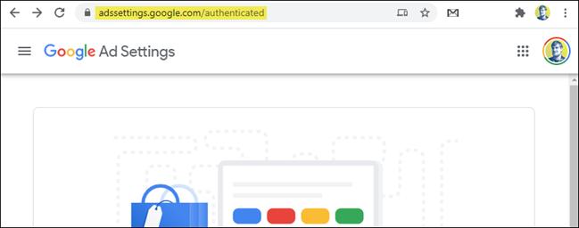 pagina de setări a anunțului google