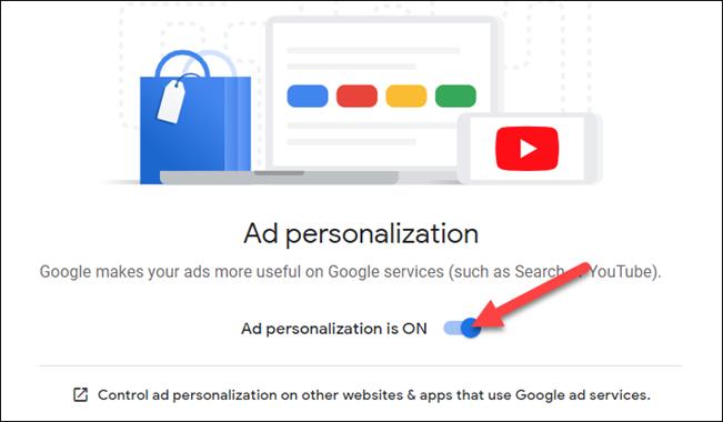 personalizarea anunțurilor trebuie să fie activată