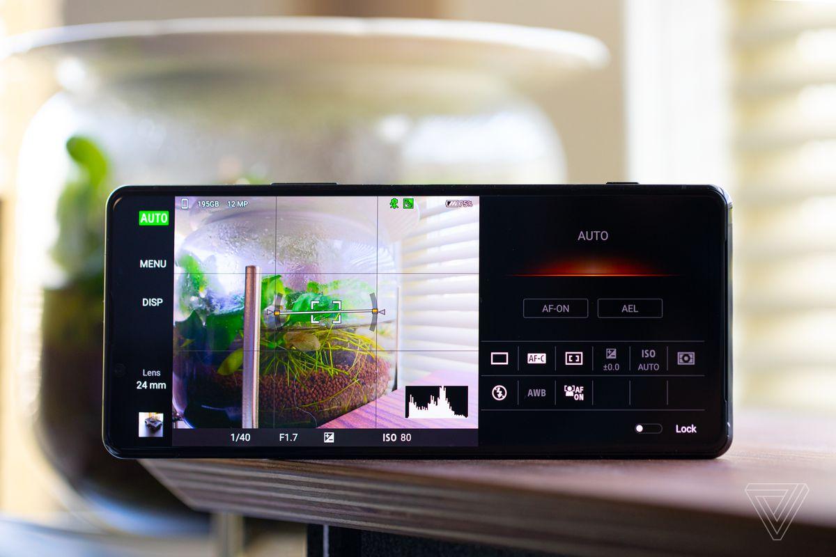 Aplicația Sony Photo Pro folosește o interfață similară cu camerele Alpha fără oglindă ale Sony