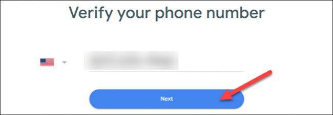 verificați numărul și faceți clic pe următor