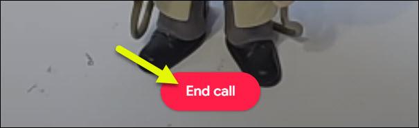 butonul de terminare a apelului