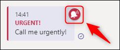 """Un mesaj marcat ca """"Urgent"""" într-un chat."""