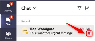"""Un chat care arată """"Urgent"""" pictogramă."""