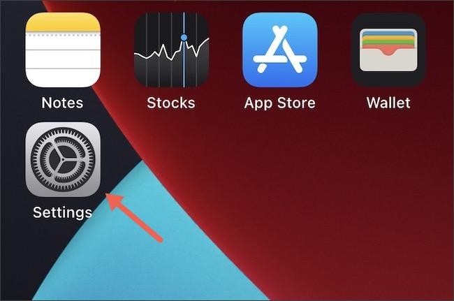 Accesați Setări pe iPhone