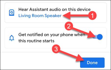 alegeți un dispozitiv și o notificare
