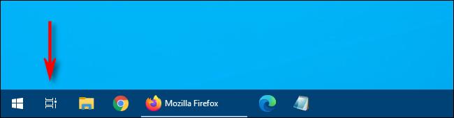 """În Windows 10, faceți clic pe """"Vizualizare sarcini"""" din bara de activități."""