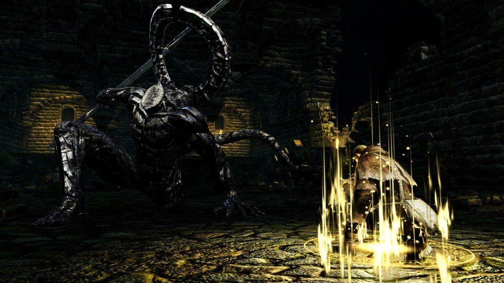 Lupta șefului Dark Souls