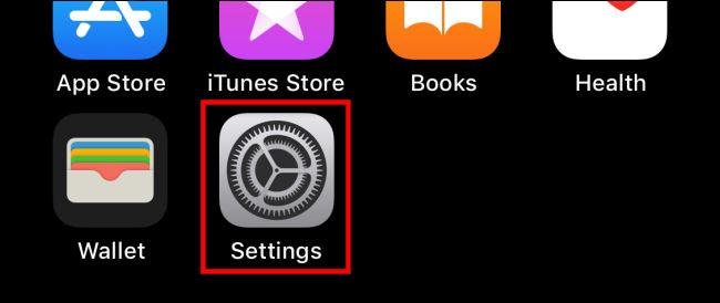 """Apasă pe """"Setări"""" pictogramă pe iPhone"""