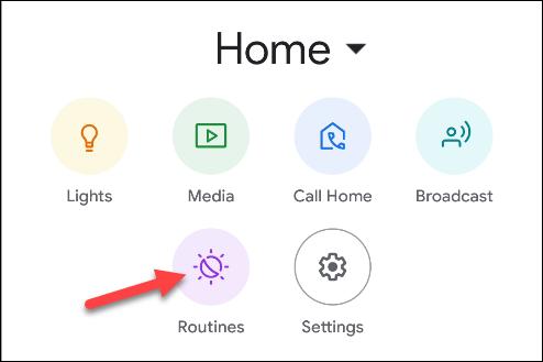 rutine de aplicații Google Home