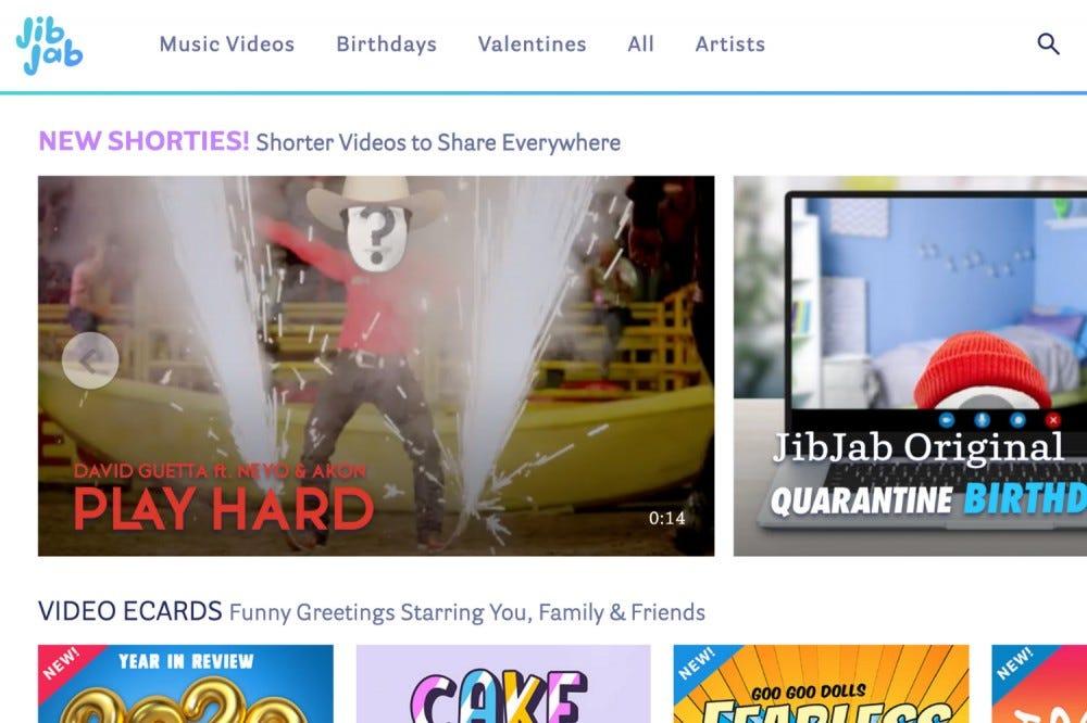 Splashpage pentru site-ul JibJab.