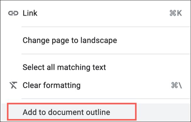 Faceți clic dreapta și alegeți Adăugați la conturul documentului