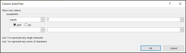 Adăugați date într-un filtru