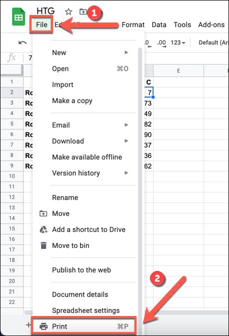 """În foaia dvs. de calcul Google Sheets, apăsați Fișier></noscript> Imprimare pentru a accesa opțiunile imprimantei pentru foaia de calcul."""" width=""""409″ height=""""600″ onload=""""pagespeed.lazyLoadImages.loadIfVisibleAndMaybeBeacon(this);"""" onerror=""""this.onerror=null;pagespeed.lazyLoadImages.loadIfVisibleAndMaybeBeacon(this);""""/></p> <p>În meniul """"Setări de imprimare"""", puteți personaliza aspectul și designul foii de calcul pentru ao face adecvat pentru imprimare.  Pentru a adăuga un nou antet sau subsol, faceți clic pe categoria """"Anteturi și subsoluri"""" din meniul din dreapta.</p> <p><img class="""