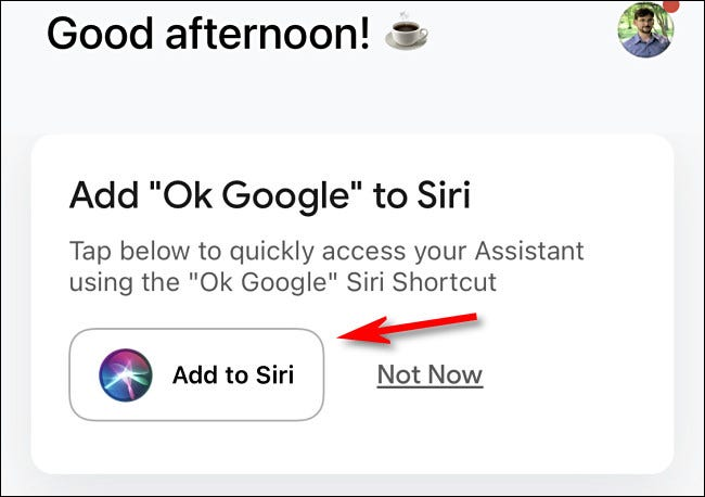 """Atingeți """"Adăugați la Siri"""""""