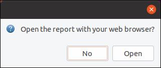 Deschideți raportul cu dialogul browserului web