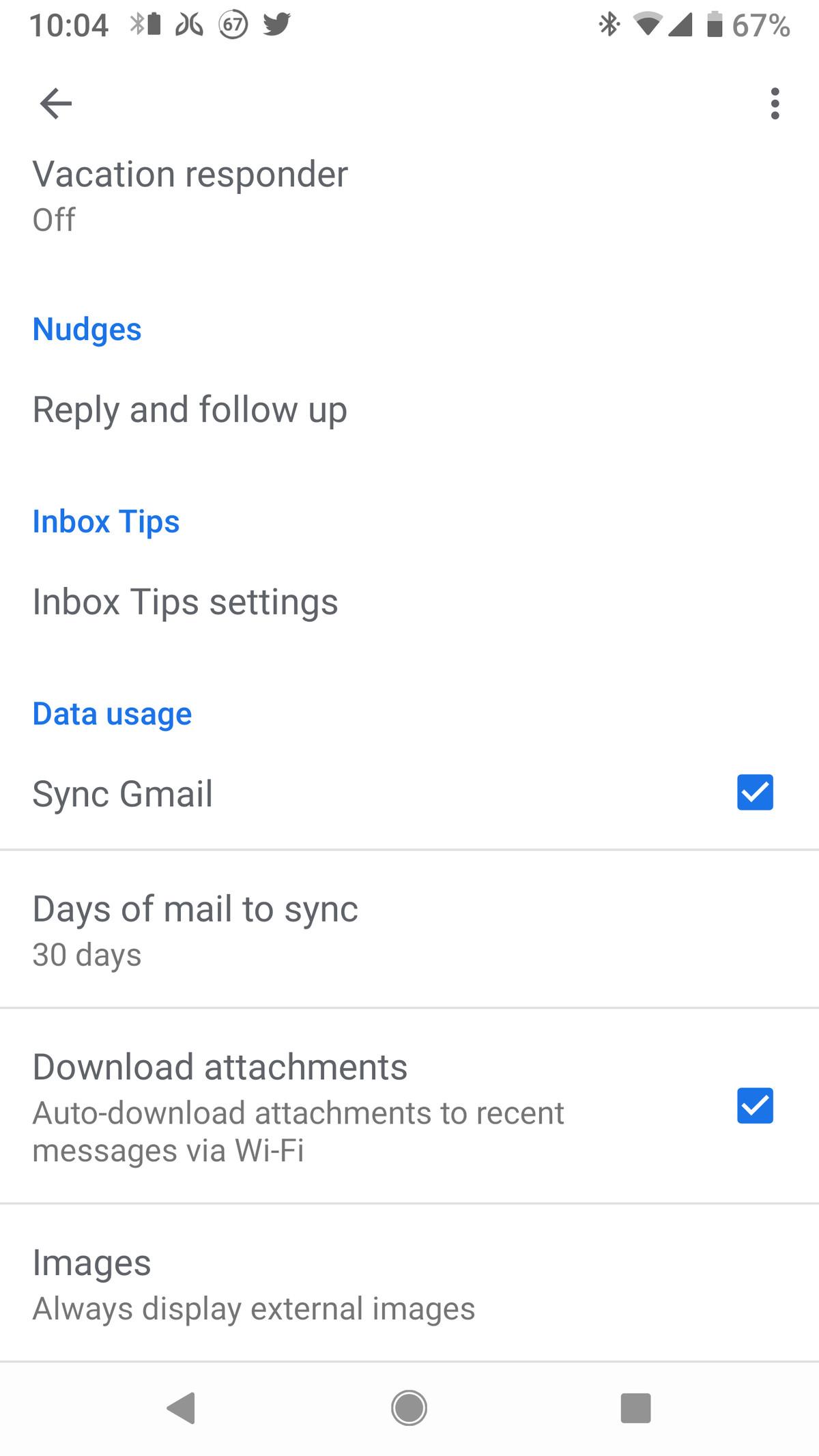 Dezactivați încărcarea automată a imaginii în Android Gmail: