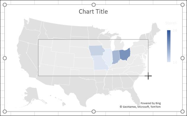 Redimensionați o diagramă în Excel