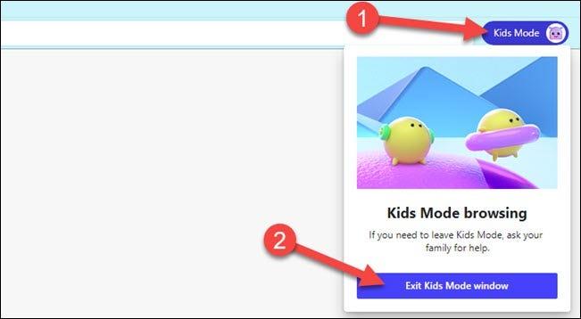faceți clic pe modul copii și ieșiți