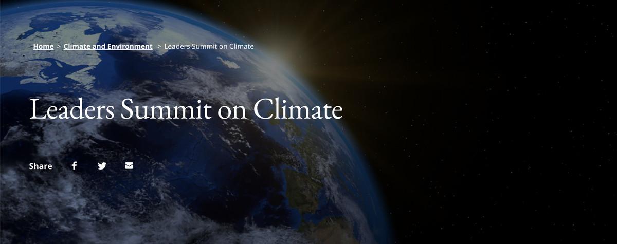 Summit-ul liderilor asupra climei
