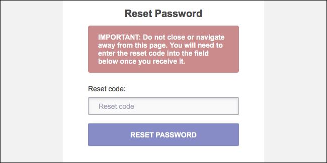 Codul de recuperare a parolei Reset ProtonMail