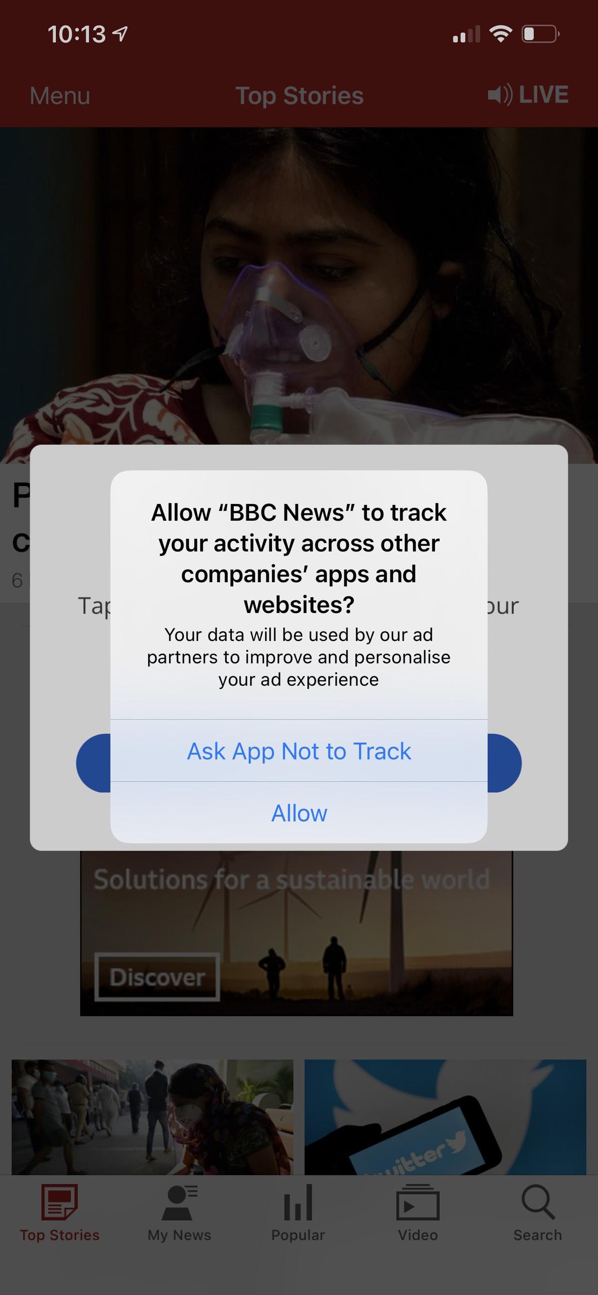 Acum depinde de dvs. dacă permiteți fiecărei aplicații să vă urmărească sau nu.