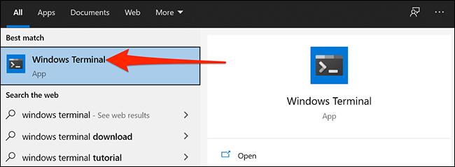 Deschideți terminalul Windows