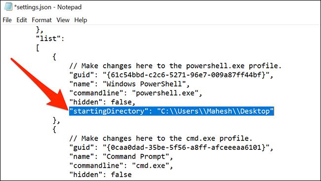 Schimbați directorul implicit al PowerShell