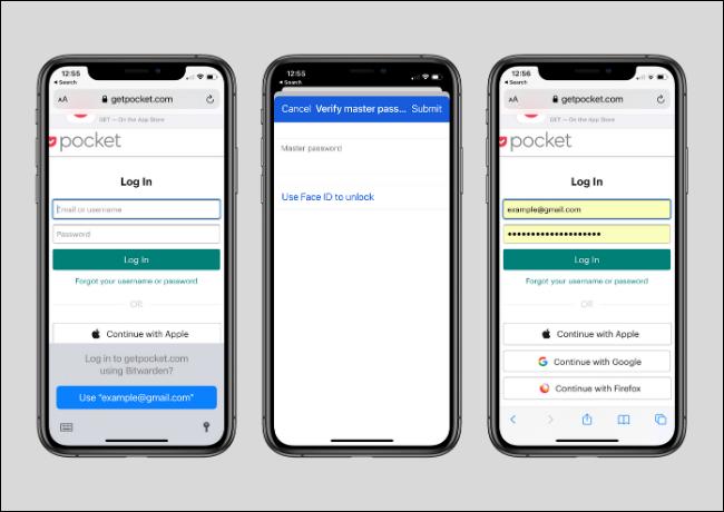 Utilizarea Bitwarden pentru a vă conecta la site-ul web Utilizarea funcției de completare automată pe iPhone și iPad