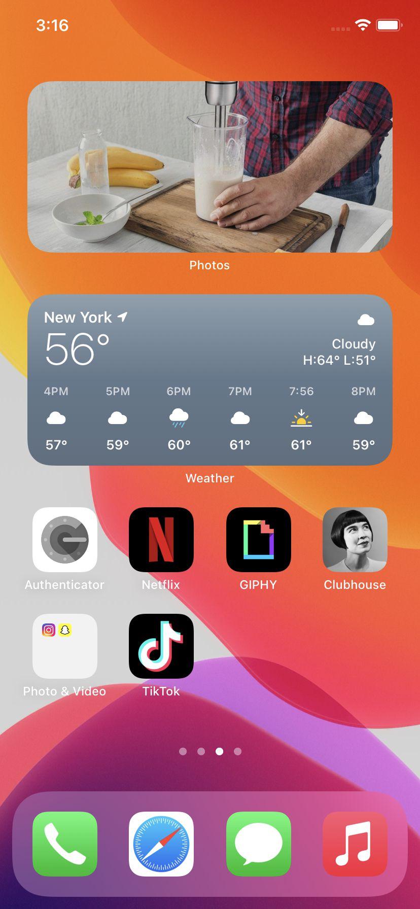 Mutați o aplicație deasupra alteia pentru a crea un folder gri
