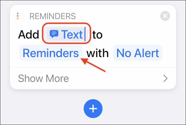Selectați butonul Memento-uri pentru a personaliza lista implicită de memento-uri.