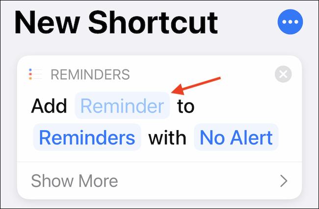 """Apasă pe """"Aducere aminte"""" pentru a personaliza introducerea comenzii rapide."""