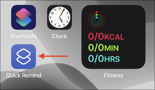 Atingeți pictograma de comandă rapidă de pe ecranul de pornire.