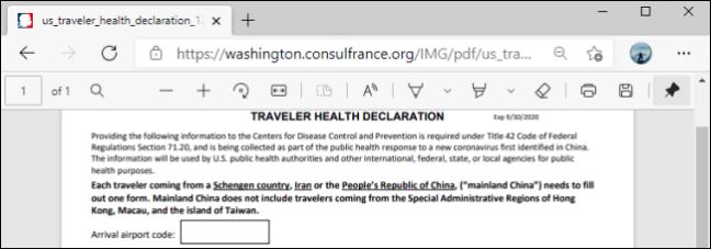 Bara de instrumente PDF în Microsoft Edge