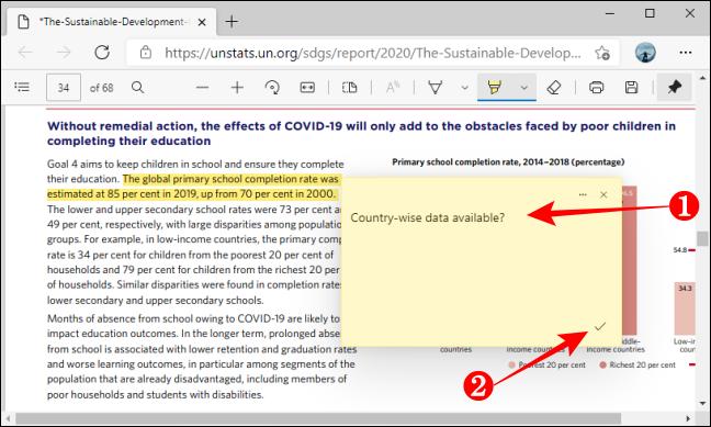 Adăugați Salvare comentariu în PDF utilizând Microsoft Edge