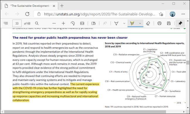Evidențiați textul utilizând Bara de instrumente PDF din Microsoft Edge