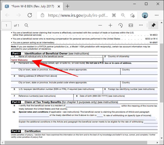 Formatul PDF Cutii evidențiate în Microsoft Edge