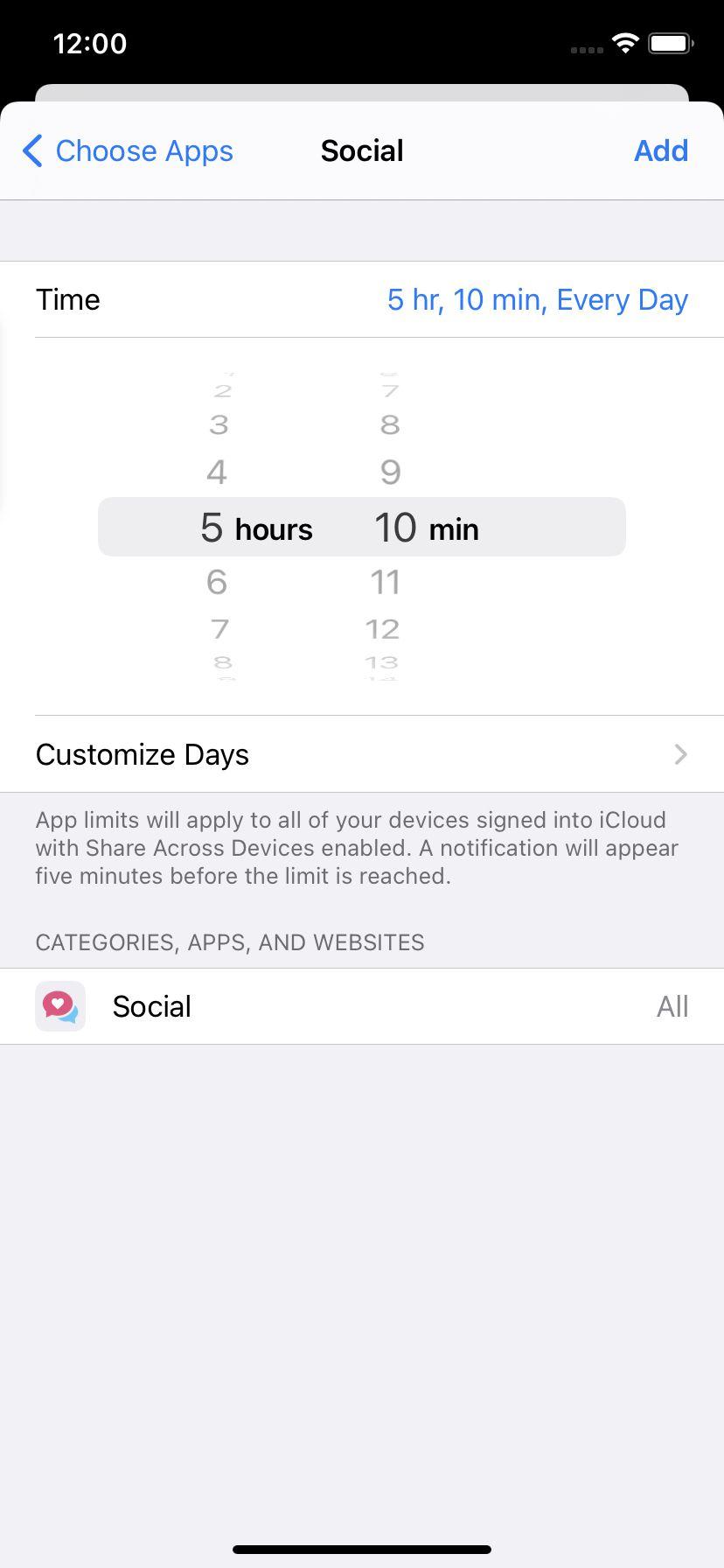 Alegeți cât timp doriți să petreceți într-o aplicație