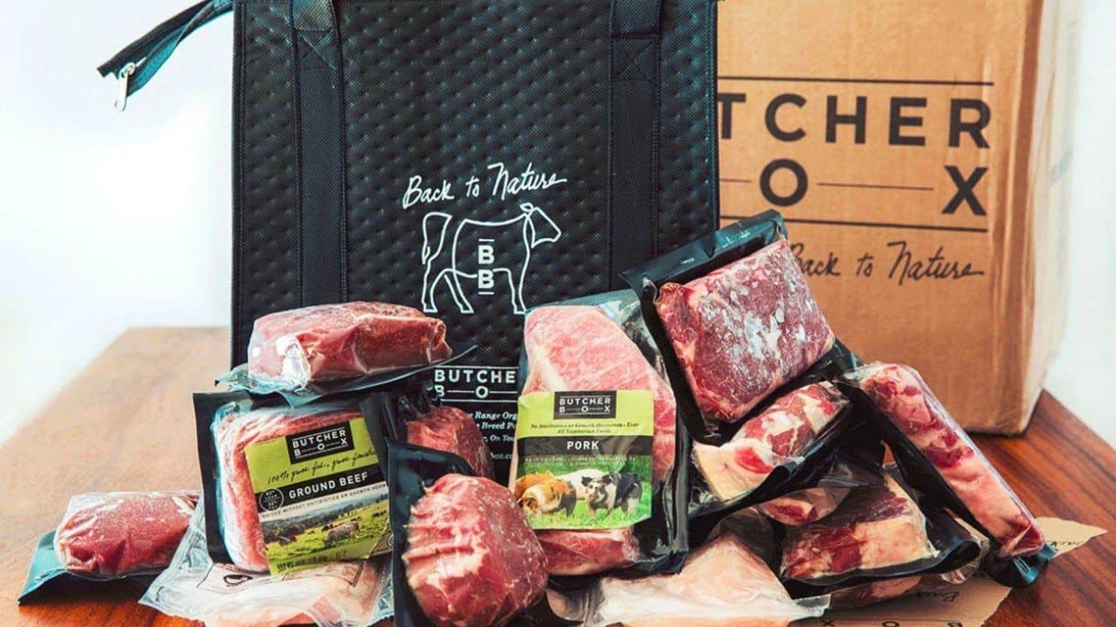 pachete de carne în sac congelator Butcher Box