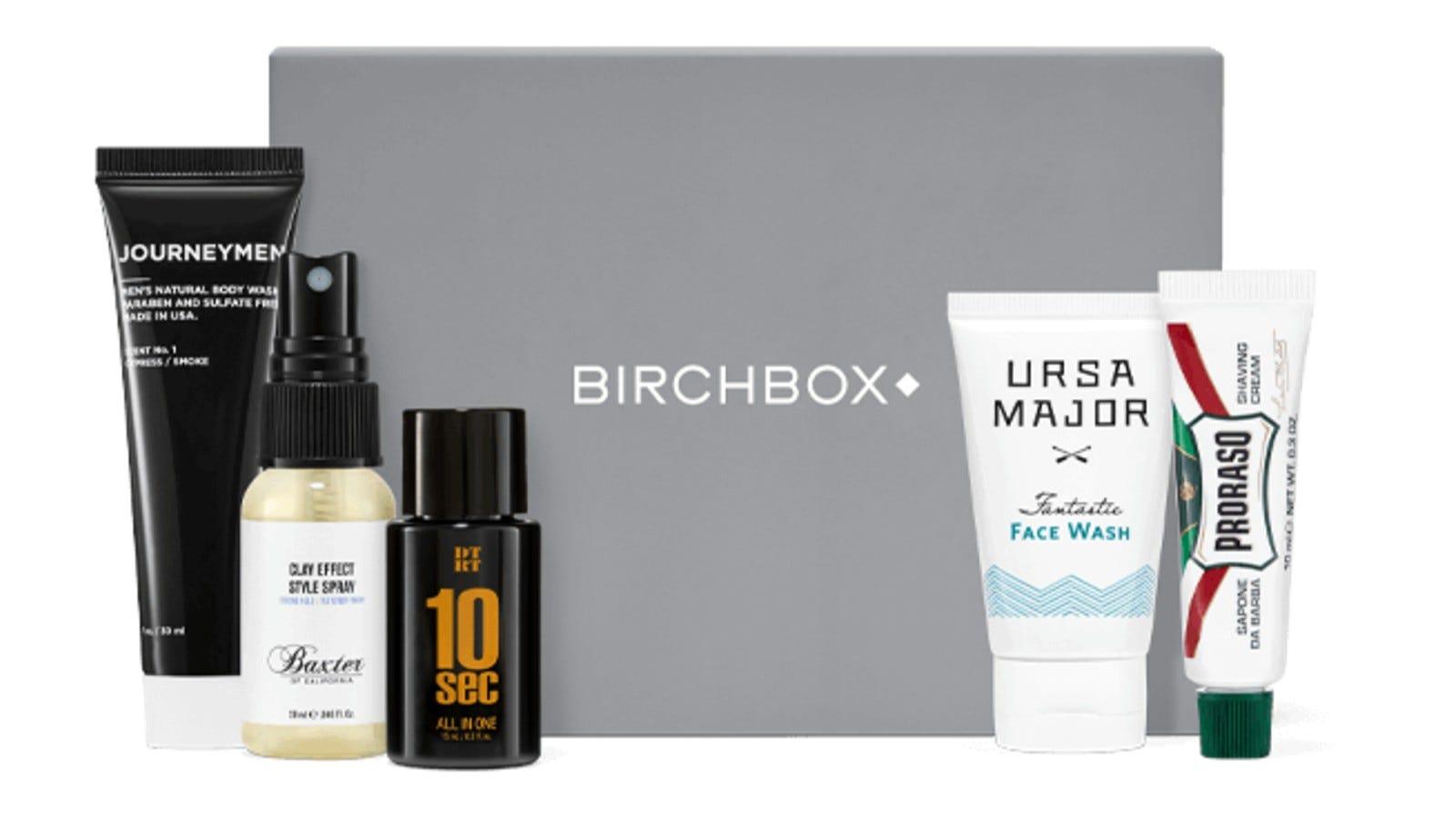 exemple de produse de îngrijire a pielii în Birchbox Men