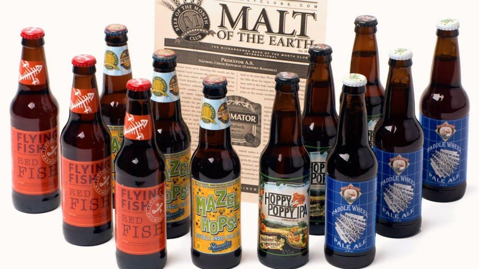 sortiment de sticle de bere în Beer of the Month Club